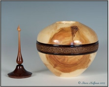 Aspen Woodturning Hollow Form Wood Pet Cremation Urn
