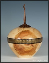 Aspen Woodturning Hollow Form Pet Cremation Urns for sale
