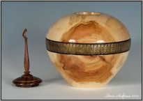 Aspen Woodturning Hollow Form Pet Cremation Urns Cat or Dog