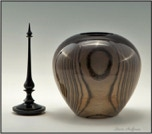 Ash Woodturning Hollow Form  Wood Cat or Dog Pet Cremation Urn